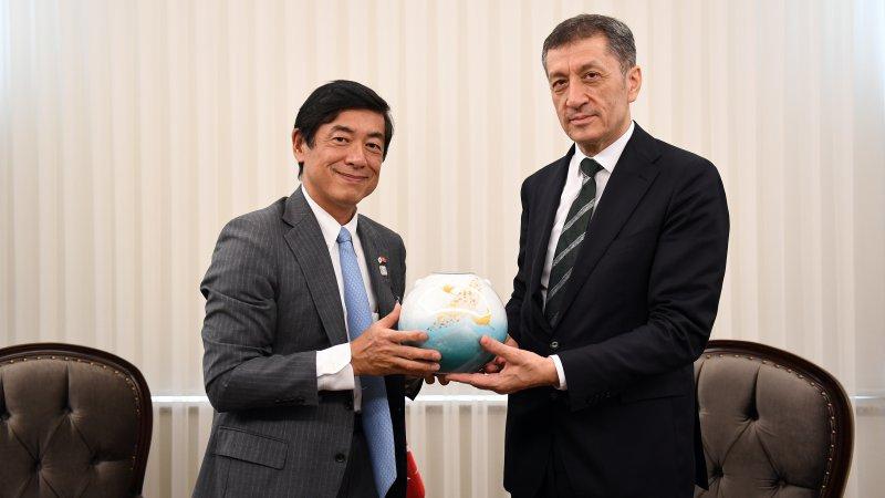 Bakan Selçuk, Japonya Büyükelçisi Mıyajıma´yı kabul etti
